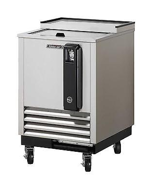 "24"" Bottle Cooler Stainless Exterior with 1 Sliding Door TBC-24SD"