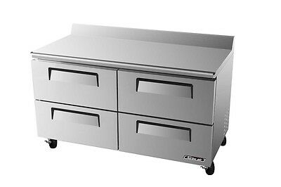 "Turbo Air 60"" Commercial  Worktop Cooler 4 Drawers TWR-60SD-D4"