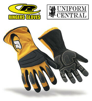 Ringers Extrication Gloves - Long Cuff - Yellow - Firefighter - Construction 304