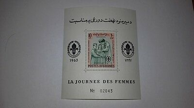 Afghanistan Journee Des Femmes Women's Day Scout 1964 Minisheet 10A. Stamp