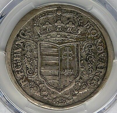 Hungary Malcontents Rebellion 1706 Silver Half Thaler PCGS XF40
