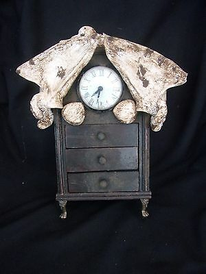 WORKING CLOCK WITH REPLICA HUMAN BONES AND DRAWERS sideshow gaffdeath blood