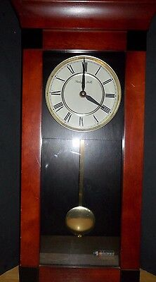 Sterling & Noble Mantle Clock Cherry Wood