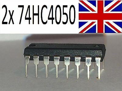 2x 74HC4050 DIP16 - Voltage level shifter for Arduino etc.