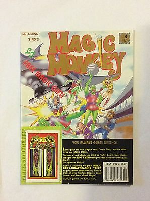 Dr Leung Ting's Magic Monkey Comic Book #3 with 4 x cover mounted magic cards