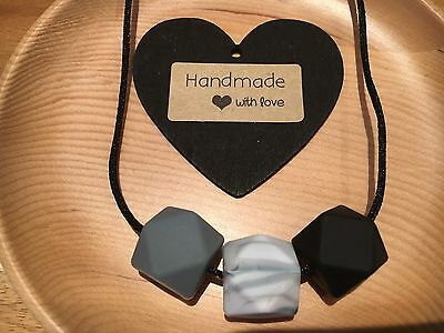Silicone Sensory Baby (was teething) Necklace for Mum Jewellery Beads Aus No 2