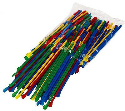 400 Spoon Straws Multi-Colored 8 Inch Great For Shaved Ice Snow Cone Slush Drink