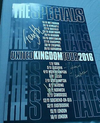 the specials signed 2016 uk tour poster ..hall ..lynval ..horace ...GENUINE !!