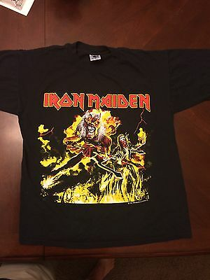 MINT Vintage Iron Maiden 1993 Hallowed Be Thy Name T Shirt LARGE Concert Rock