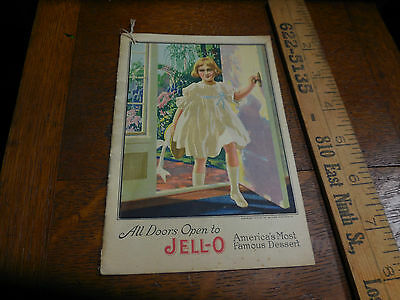 Vtg 1900 Jello Jell-O Recipe Book Litho Art  Advertising ALL DOORS OPEN #4