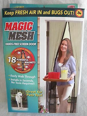 New Magic Mesh Hands Free Screen Door As Seen on TV