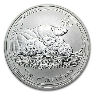 2008 1 oz Silver Australian Perth Mint Lunar Year of the Mouse Coin