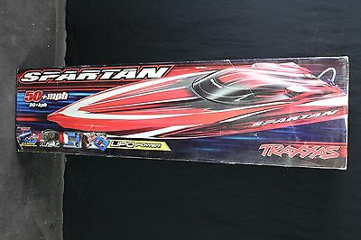 Traxxas 5709L-1 Spartan Boat Brushless Tqi 2.4Ghz No Batteries/charger Red 834