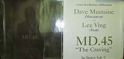 MD.45 The Craving, orig Capitol promo poster, 1996, 12x24, VG+, Megadeth, Fear