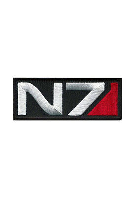 N7 Mass Effect Patch Embroidered Badge Retro Video Game Logo Applique Tactical