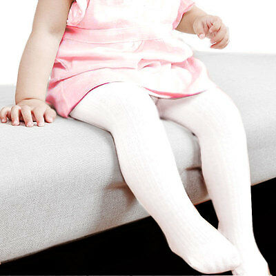 Solid White Color Baby Toddler Infant Warmer Tights Stockings Pantyhose 0-12 mo