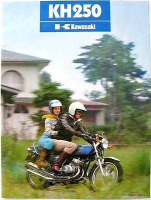KAWASAKI KH250 B2 Motorcycle Sales Specification Leaflet 1977 #99980-013-10