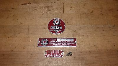 """Delta Rockwell 6"""" Jointer Tags /Badges"""