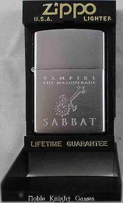 White Wolf Vampire The Masquerade Merch Sabbat Zippo Lighter NM
