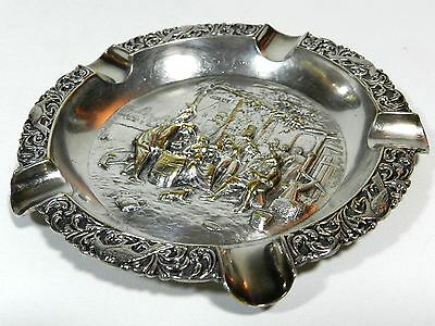 Antique Silverplate Ashtray Holland