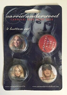 Carrie Underwood Carnival Ride Pins / Buttons 4-pack