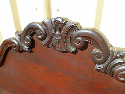 Solid~Mahogany~Antique~Vintage~Double~Bed~Head~French~Provincial~Chic