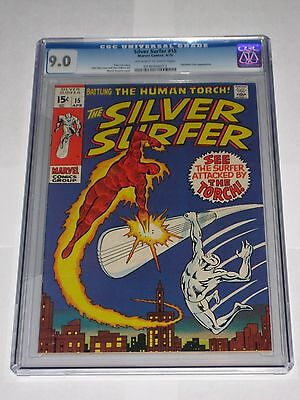 Silver Surfer #15 CGC 9.0 SS Fantastic Four Human Torch