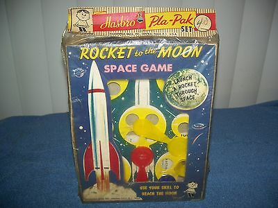 Vintage 1950s Rocket to the Moon Space Game by Hasbro / Hassenfeld