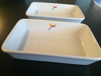 Aloha  Airlines Vintage Dinner Plates Set Of 2 Aloha  Airlines Logo
