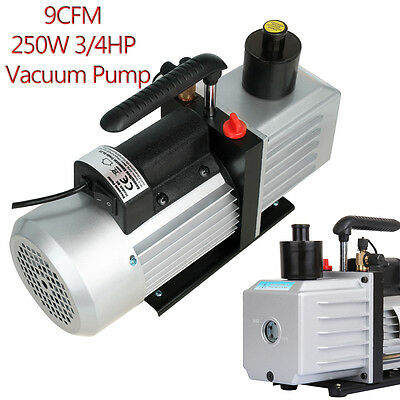 250W 3/4HP 9CFM 5Pa Vacuum Pump 300ml Oiling-costing Refrigerant Conditioning