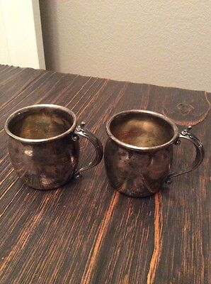 PAIR of F B ROGERS CUPS
