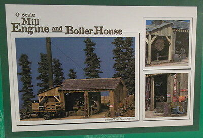 "On3 On30 O CRAFTSMAN SIERRA WEST "" LOGGING MILL ENGINE & BOILER HOUSE KIT"" NEW"