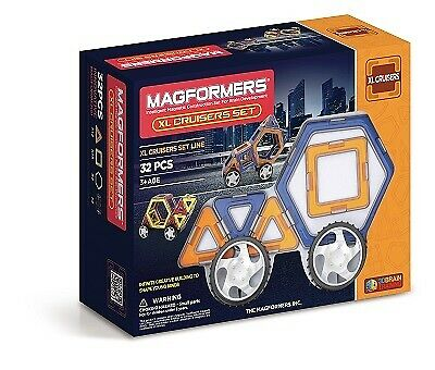 NEW!!  Genuine Magformers 32-Piece Magnetic Construction Set XL Cruisers