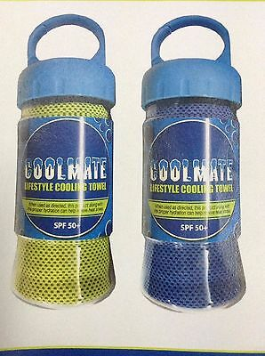 Coolmate Lifestyle Cooling Towel : SPF50+ : Cool Evaporation Technology : BLUE