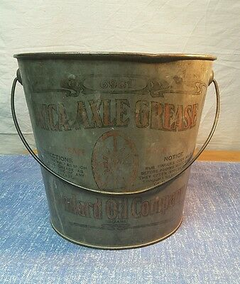 Vintage Standard Oil Company 25 Lbs. Mica Axle Grease #6981 Pail Indiana ~ clean