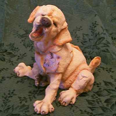 A Breed Apart Yellow Lab Puppy Dog Retriever MIB New Country Artists Figurine