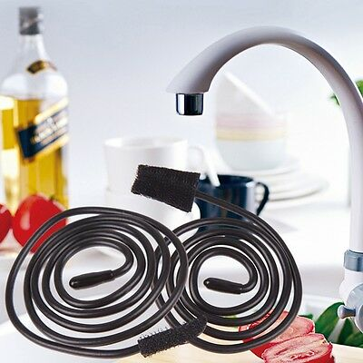Sink Cleaner Snake Shaped Unclog Drain Sink Tub Toilet Brush Hair Removal Tool
