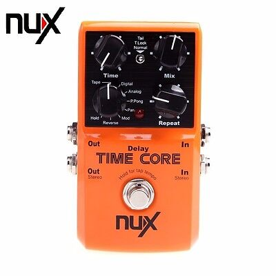 Orange NUX Time Core Guitar Effect Pedal 7 Delay Models True Bypass