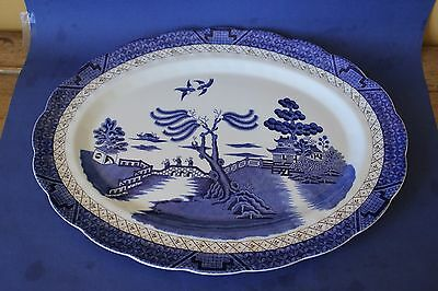"""Large Royal Doulton """"Booths Real Old Willow """" Platter."""