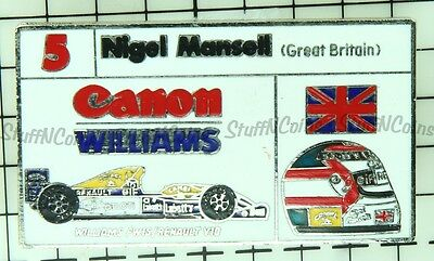 Nigel Mansell 5 Great Britain Canon Williams Vintage Lapel Pin
