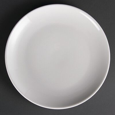 12x Olympia Whiteware Coupe Plates 250mm Serving Service Tableware Restaurant