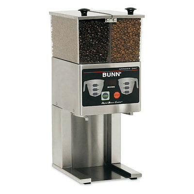 Bunn 36400.0000 French Press Coffee Bean Grinder Two 3lb Hoppers