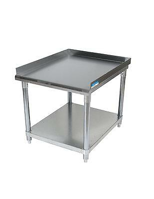 """BK Resources VETS-4830 Economy 30"""" x 48"""" Stainless Kitchen Equipment Stand"""