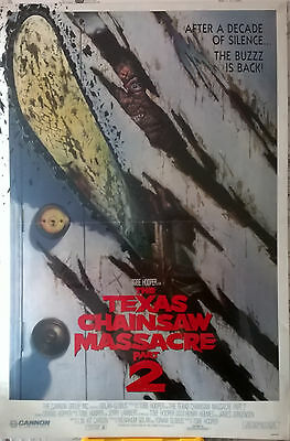 Texas Chainsaw Massacre 2 US One-Sheet Poster VERY RARE (Originally Banned)