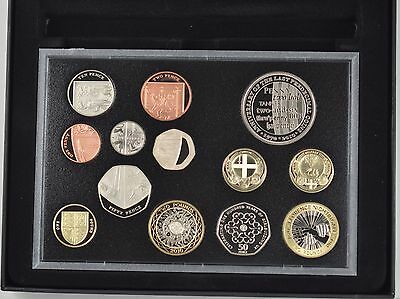 2010 ROYAL MINT 12 COIN PROOF SET + CROWN SIZE MEDAL - boxed/coa