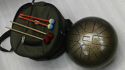 handpan tongue drum/Tank drum/steel tongue drum,tuned 440 Hz good quality w.bag