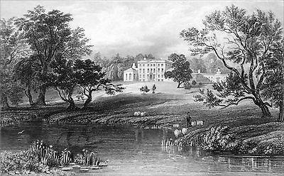 MISTLEY HALL, SEAT of CHARLES MANNERS SUTTON (ESSEX) - Engraving of 19th century