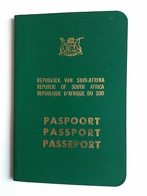 SOUTH AFRIKA complete expired TRAVEL DOCUMENT 1981 seals,,ATHENS,ITALIA,CYPRUS