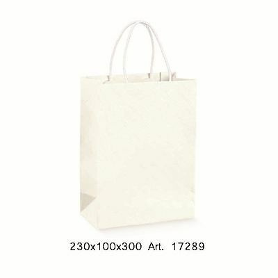 Busta Shopper manico corda Matelassè Bianco 230x100x300mm art 17289