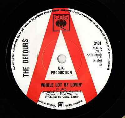 """THE DETOURS - """"Pieces Of You"""" FANTASTIC MOD HAMMOND GROOVER- Hear both sides"""